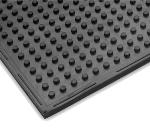 "Notrax 411629 Traction Mat Multi-Purpose Floor Mat, 3 x 8 ft, 3/8"" Thick, General Black"