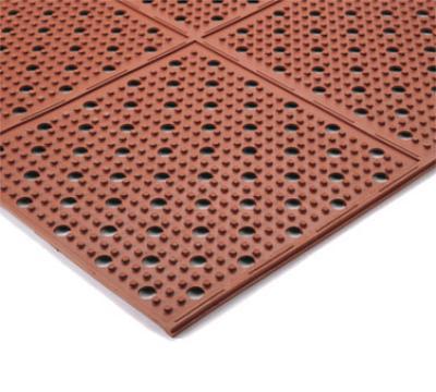 "Notrax 416229 Mult-Mat II Reversible Oil Resistant Floor Mat, 3 x 4 ft, 3/8"" Thick, Red"