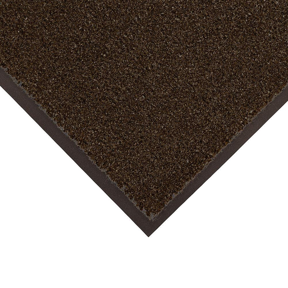 Notrax T37S0036BR Olefin Fiber Floor Mat, Vinyl Back, Stain & Slip Resistant, 3 x 6-ft, Dark Toast