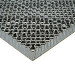 Notrax 436971 Tek-Tough Jr Grease Resistant Floor Mat, 3 x 5 ft, 1/2 in Thick, Gray