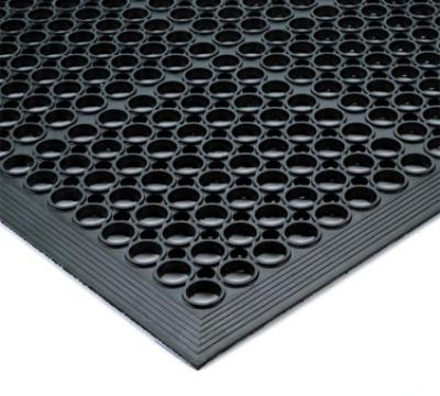 Notrax 437434 Tek-Tough Jr General Purpose Floor Mat, 3 ft x 9 ft 10 in, 1/2 in Thick, Black