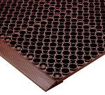 "Notrax 439502 Tek-Tough Anti-Fatigue Floor Mat, Grease Resistant, 3 x 5 ft, 7/8"" Thick, Red"