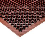 "Notrax 440447 Tek-Tough Jr Grease Resistant Floor Mat, 3 ft x 9 ft 10 in, 1/2"" Thick, Red"
