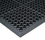 "Notrax 440448 Tek-Tough Jr General Purpose Floor Mat, 3 ft x 14 ft 8 in, 1/2"" Thick, Black"
