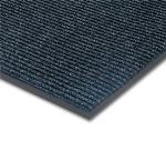 "Notrax 4457-895 Bristol Ridge Scraper Floor Mat, 3 x 4 ft, 1"" Vinyl Border, Slate Blue"