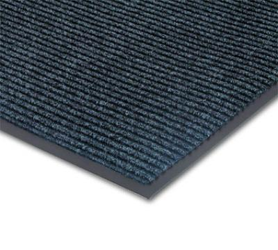 NoTrax 4457-945 Bristol Ridge Scraper Floor Mat, 3 x 10 ft, 1 in Vinyl Border, Slate Blue