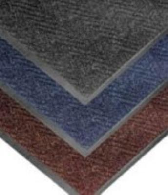 "Notrax 4459-101 Chevron Entrance Matting, Low Profile 5/16"" Thick, 2 x 3 ft, Charcoal"