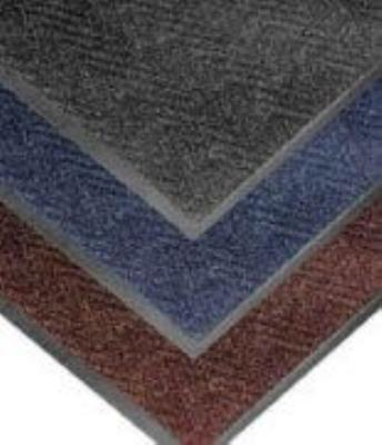 "Notrax 4459-103 Chevron Entrance Matting, Low Profile 5/16"" Thick, 2 x 3 ft, Slate Blue"