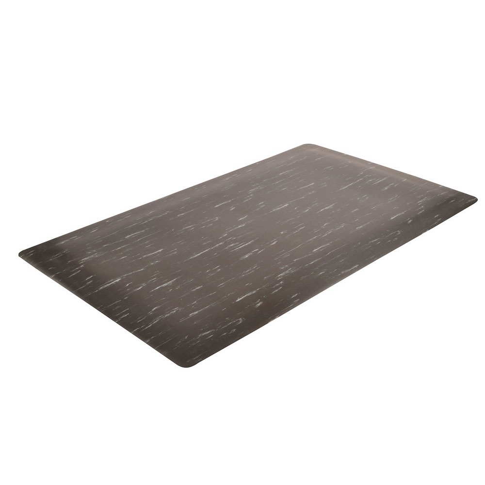 "Notrax 511S0024BL Heavy Duty Vinyl Mat, 2-ft x 4-ft x 1/2"", Black"