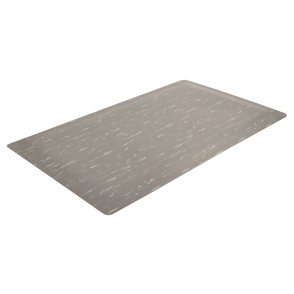 "Notrax 511S0024GY Heavy Duty Vinyl Mat, 2-ft x 4-ft x 1/2"", Gray"