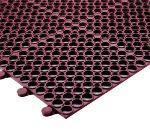 "Notrax 752237 Tek-Connect Grease Resistant Floor Mat, 3 x 4 ft, 1/2"" Thick, Red"