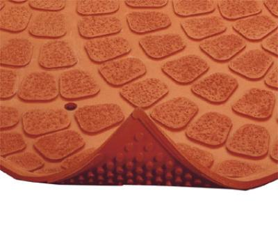 "Notrax 754251 Grip True Grease-Resistant Floor Mat, 3 x 8 ft, 3/8"" Thick, Red"
