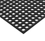 "Notrax 754274 Step Light General Purpose Floor Mat, 3 x 5 ft, 1/2"" Thick, Black"