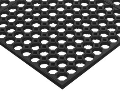 "Notrax T19U0035BL Step Light General Purpose Floor Mat, 3 x 5 ft, 1/2"" Thick, Black"