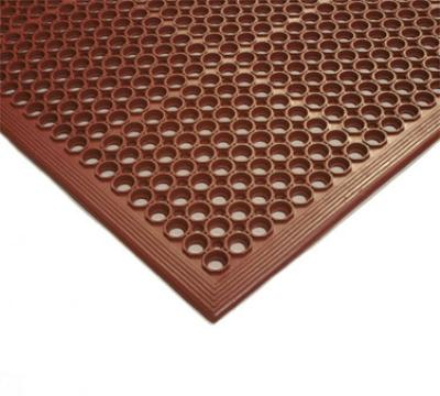 NoTrax 755101 Competitor Grease Resistant Floor Mat, 3 x 5 ft, 1/2 in Thick, Red