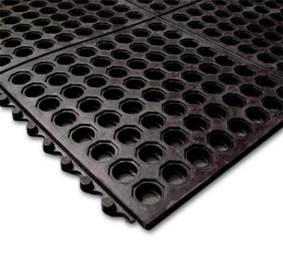 Notrax 993437 Ultra Mat General Purpose Floor Mat, 3 x 3 ft, 5/8 in Thick, Black