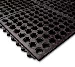 "Notrax T32U0035BL Ultra Mat General Purpose Floor Mat, 3 x 5 ft, 1/2"" Thick, Black"