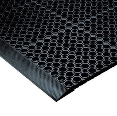Notrax T12K0012BL Floor Mat Connector - For San-EZE Floor Mat, Black