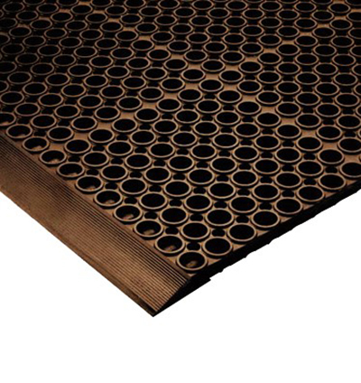 Notrax T12K0012BR Floor Mat Connector - For San-EZE Floor Mat, Brown