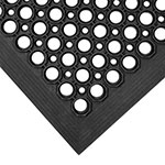 Notrax 755-100 Apex Competitor Anti-Fatigue Floor Mat - 3' x 5', Rubber, Black