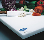 "Notrax 171-892 Cutting Board, Polyethylene, 12 x 18 x 3/4"", White"