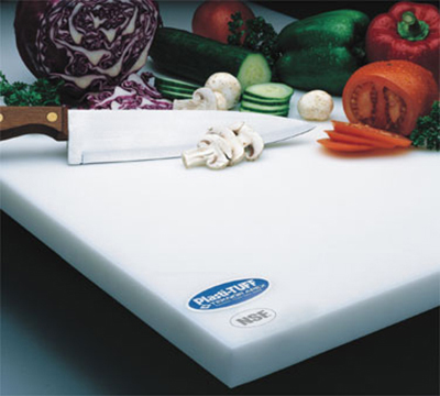 "Notrax 173-054 Cutting Board, Polyethylene, 15 x 20 x 1"", White"