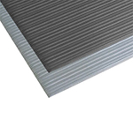 "Notrax 4451-010 Anti-Fatigue Floor Mat, Ribbed Foam Vinyl, 4-ft x 30-ft x 9/16"", Silver"