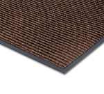 Notrax T39S0048BR Floor Mat, Polypropylene, Ribbed Vinyl Back, Fade-Resistant, 4 x 8-ft, Coffee