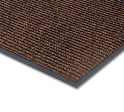Notrax 0434-369 Floor Mat, Polypropylene, Ribbed Vinyl Back, Fade-Resistant, 4 x 8-ft, Coffee