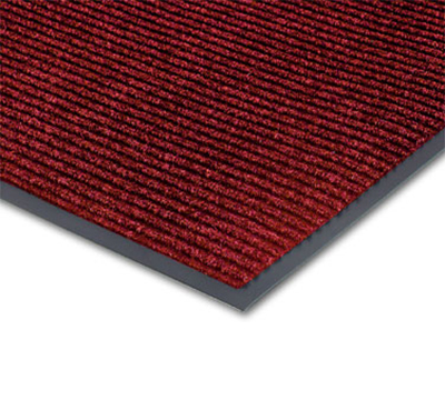 Notrax T39S0036RB Floor Mat, Polypropylene, Ribbed Vinyl Back, Fade-Resistant, 3 x 6-ft, Cardinal