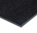 Notrax 0434-347 Floor Mat, Polypropylene, Ribbed Vinyl Back, Fade-Resistant, 3 x 4-ft, Midnight