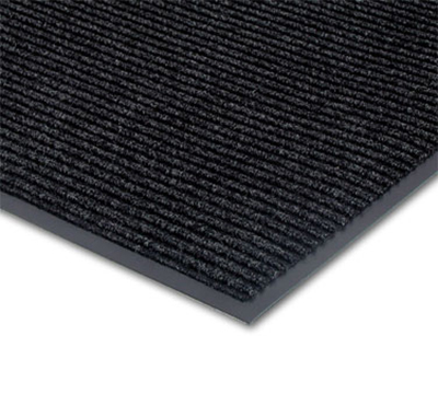 Notrax T39S0310CH Floor Mat, Polypropylene, Ribbed Vinyl Back, Fade-Resistant, 3 x 10-ft, Midnight