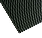 Notrax 0434-395 Anti-Fatigue Floormat, Ribbed Foam Vinyl w/ Textured Base, 2 x 60-ft, Coal