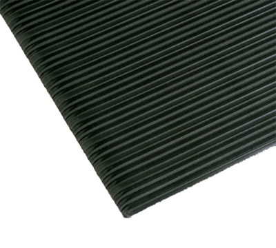"Notrax 4490-193 Anti-Fatigue Floor Mat, Ribbed Foam Vinyl, 2-ft x 60-ft x 5/8"", Coal"