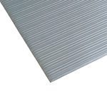 Notrax T42R0324GY Anti-Fatigue Floormat, Ribbed Foam Vinyl w/ Textured Base, 2 x 60-ft, Silver