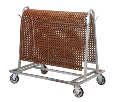 Notrax 755-641 1-Level Galvanized Steel Utility Cart w/ 500-lb Capacity, Flat Ledges