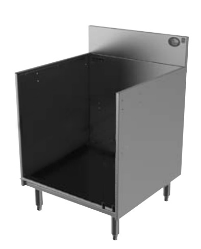 Perlick 7055A Glass Rack Storage Unit w/ Open Top & Recessed Shelf
