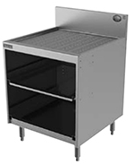 Perlick 7055A-D Drainboard Top Glass Rack Storage Unit w/ Drain, Stainless