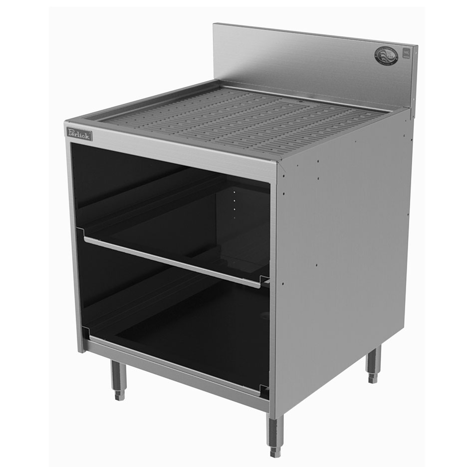 Perlick 7055A-D-STK Underbar Glass Storage Unit w/ 2-Rack Capacity, Stainless