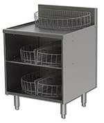 Perlick 7057-2 24-in Glass Handling Cabinet w/ Storage, For Glass Washer