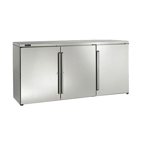 Perlick BBR72 3-Section Backbar Storage Cabinet w/ Interior Lights & Door Locks, 2-amps