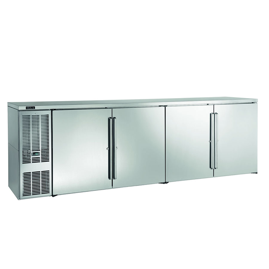 "Perlick BBS108S-S 108"" (4) Section Bar Refrigerator - Swinging Solid Doors, 120v"