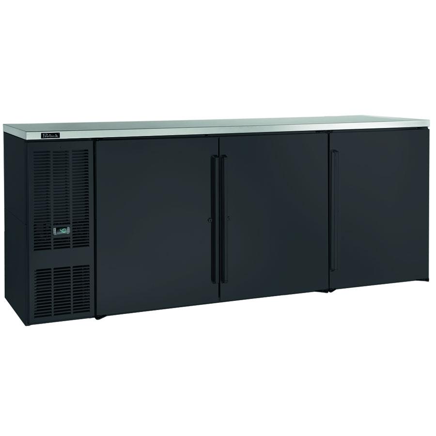 """Perlick BBS84B-S 84"""" (3) Section Bar Refrigerator - Swinging Solid Doors, 120v"""