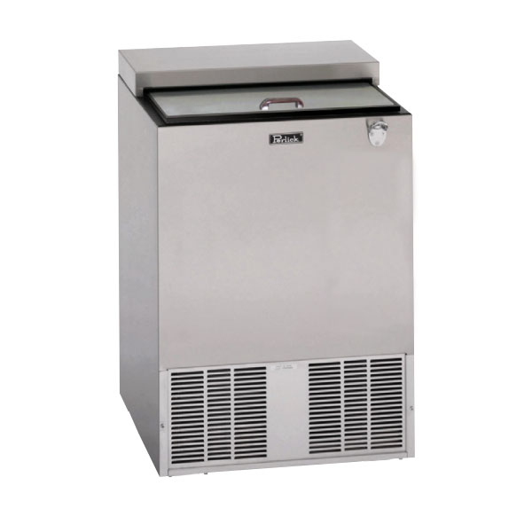 "Perlick BC24LT 24"" Forced Air Bottle Cooler - Holds (132) 12-oz Bottles, Stainless Interior, 115v"