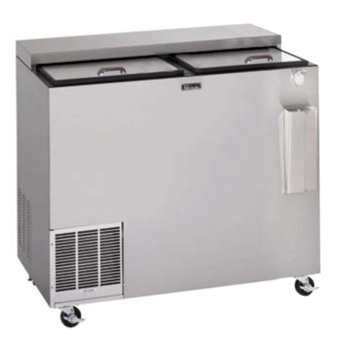 "Perlick BC48 48"" Forced Air Bottle Cooler - Holds (412) 12-oz Bottles, Stainless Interior, 115v"