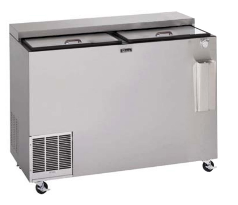 "Perlick BC60LT 60"" Forced Air Bottle Cooler - Holds (504) 12-oz Bottles, Stainless Interior, 115v"