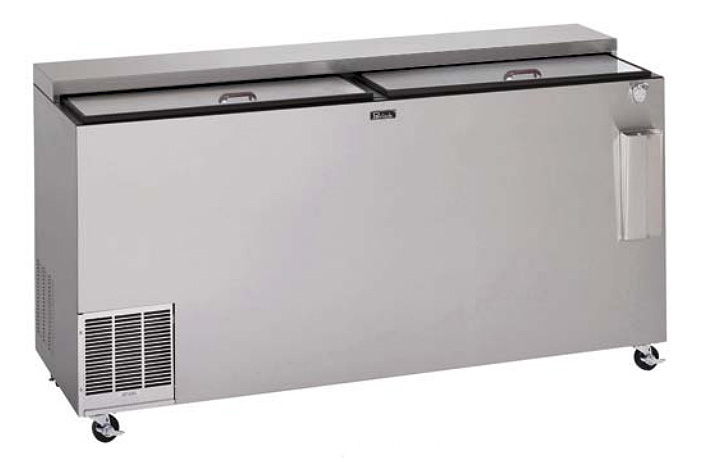 "Perlick BC72LT 72"" Forced Air Bottle Cooler - Holds (680) 12-oz Bottles, Stainless Interior, 115v"