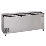 "Perlick BC96LT 96"" Forced Air 1392-Capacity Bottle Cooler - Stainless Interior, 115v"