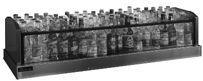 Perlick GMDS19X60 60-in Glass Merchandiser Display w/ 132-Bottle Capacity
