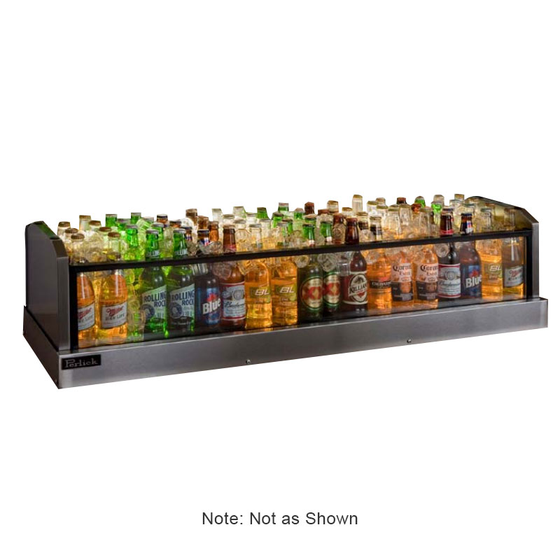 Perlick GMDS24X72 72-in Glass Merchandiser Display w/ 208-Bottle Capacity
